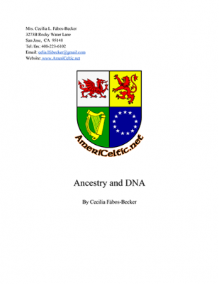 Ancestry & DNA Book by Cecilia Fabos-Becker
